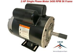 2 Hp Spl 3450 Rpm 56 Frame 120 240v 15 7 5amp 5 8 Shaft Single Phase Nema Motor