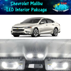 13x White Led Lights Interior Package Kit For 2013 2018 Chevrolet Chevy Malibu