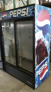 Two Sliding Glass Door Merchandiser Fridge Used Restaurant Equipment