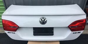 11 14 Mk6 Vw Volkswagen Jetta Se Base Tsi Tdi Sedan Sdn Trunk Lid Deck Oem White