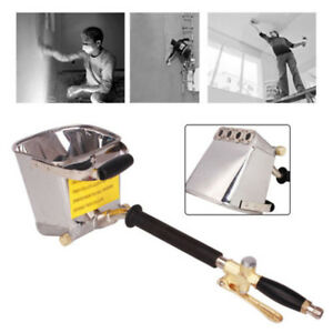 Cement Mortar Stucco Sprayer Hopper Spray Gun Concrete Tool Painting Wall 4 Jet