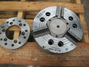 Samchully Mh 210 10 3 jaw Hydraulic Chuck For Haas Sl 30 And St 30