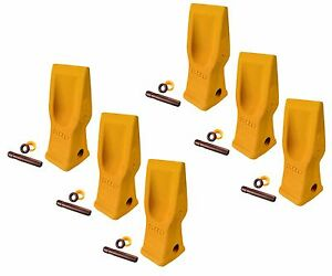 6 Cat Style Excavator Backhoe Skid Bucket H d Abrasion Bucket Teeth 4t 2203