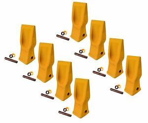 8 Cat Style Excavator Backhoe Skid Bucket H d Abrasion Bucket Teeth 4t 2203