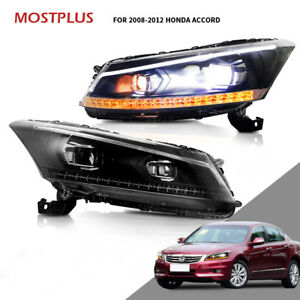 Led Headlights Drl Projector For Honda Accord 2008 2012 Dual Beam Front Lamps