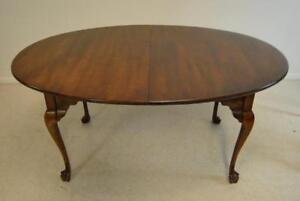 Cherry Queen Anne Oval Dining Table By Statton Furniture