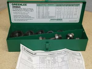 Greenlee 39860 Industrial Knockout Punch Set For 3 4 To 1 1 2