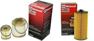 03 07 Ford Motorcraft 6 0l Powerstroke Diesel Oil Fuel Filter Kit Fd4616 Fl2016