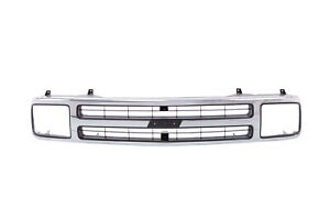 Am New Front Grille For Chevrolet S10 Blazer Chrome Gm1200383 15647632