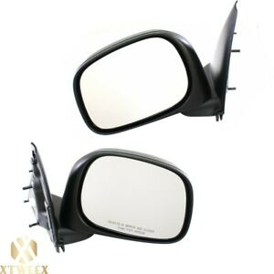 Left Right Side Manual Mirror Assembly For 02 08 Dodge Ram 1500 03 09 2500 3500