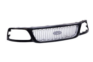 Black Front Grille W honey Comb Insert For 99 00 01 02 03 04 F150 F250 Pickup