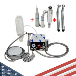 Dental Portable Air Turbine Unit Work W Compressor High Low Speed Handpiece Us