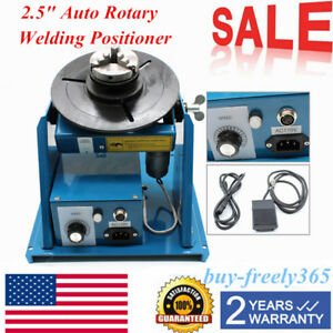 Rotary Welding Positioner Turntable Table With 2 5 3 Jaw Lathe Chuck 110v Sale