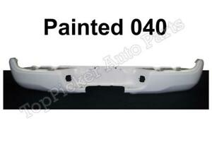 Painted 040 Super White Rear Step Bumper Face Bar For 2005 2015 Toyota Tacoma