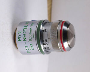 Zeiss Plan neofluar 25x Water Oil Korr Ph2 Phase 160 Tl Microscope Objective