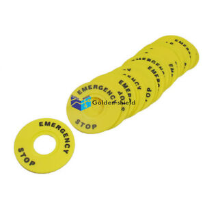 20pcs 22mm Inner Dia Emergency Stop Ring For Pushbutton Switch Replacement