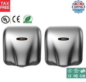 Air Hand Dryer Electric Automatic Sensor 2 Pack Commercial Bathroom 1800w Speed