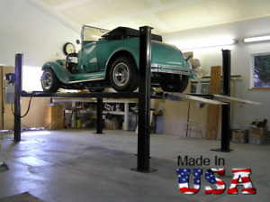 Usa Made 4 post Storage Parking Car Lift Stda 7000n W 7 000lb Capacity