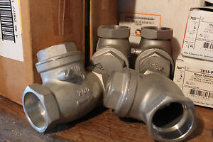 4 New Jfw Stainless Steel Socket Weld Swing Check Valve 1 1 2 Sc 200 Cf8m