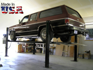 Usa Made 4 Post Storage Parking Car Lift Stda 7000xlt W 7 000lb Capacity