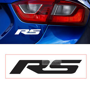 Rs Logo Graphics Vinyl Decals Custom Car Side Front Sticker 2p For Chevrolet Car