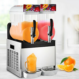 Top 2 Tank Commercial Frozen Drink Slush Slushy Make Machine Smoothie Maker