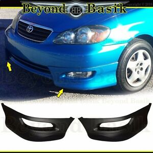 For 2005 2006 2007 2008 Toyota Corolla Front Bumper Body Kit S Style Lower Lip