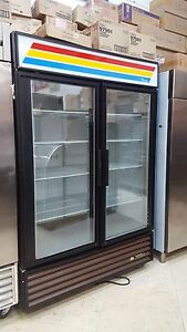 Used Gdm 49f True Glass 2 Door Freezer Merchandiser Includes Free Shipping