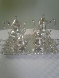 Antique Sheridan Taunton Silver Plated Coffee Tea Set