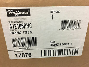 Hoffman A12106phc Polypro Electrical Enclosure Box 12x10x6