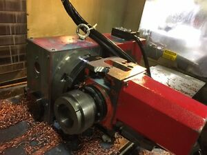 Used Haas T5c 5c 4th And 5th 2 Axis Rotary Table Indexer Brush Servos Red