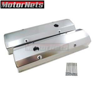 Small Block Chevy Sbc Fabricate Anodized Aluminum Tall Valve Cover 283 350 383