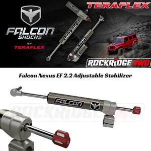 Falcon Nexus Ef 2 2 Adjustable Steering Stabilizer Jeep Wrangler Jk W 1 5 8 Tr
