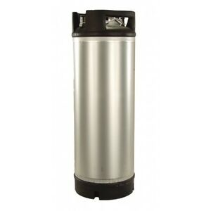 Stainless Steel 5 Gallon Dual Rubber Foot Handled Ball Lock Keg