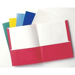 School Twin Pocket Folders Letter Size 125 Per Box