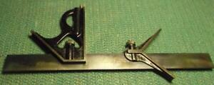 Vintage Goodel pratt 12 Machinist Combination Square Nice And Clean No Rust Vg