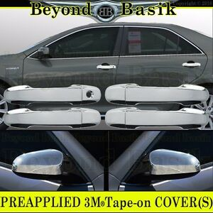 For 2012 2017 Toyota Camry Chrome Door Handle Covers W O Smrt Mirror Overlays