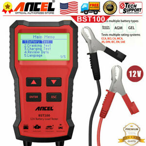 12v Automotive Load Battery Tester Digital Charging Analyzer Car Diagnostic Us