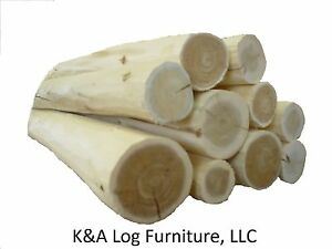 Lg 6 Log Furniture Logs Hand Peeled Cedar Kiln Dried Use Your Tenon Cutter
