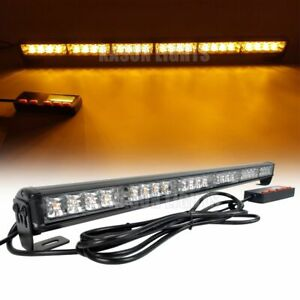 26 24 Led Strobe Light Bar Traffic Advisor Emergency Warning Flash Amber 12 24v