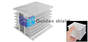 Three 3 Phase Aluminum Heat Sink For Solid State Relay Ssr Heat Dissipation