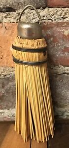 Primitive Broom Round Vintage Fits Rite Hanging Farm House Hearth Hand Whisk
