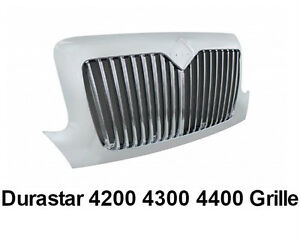 International Durastar 4200 4300 4400 Chrome Grill W Bugscreen Oe 3564289c91 9