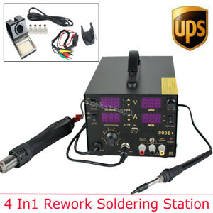 4 In1 Hot Air Gun Unit Soldering Rework Station Welding Solder Desol