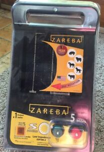 Zareba Esp5m z 5 mile Solar Low Impedance Charger 1 Output Electric Fence