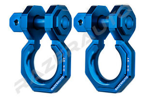 1 Pair 3 4 Blue 3 0 Ton Aluminum D ring Bow Anchor Shackle Heavy Duty Offroad