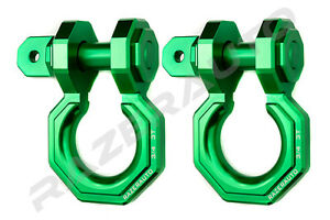 1 Pair 3 4 Green 3 0 Ton Aluminum D ring Bow Anchor Shackle Heavy Duty Offroad