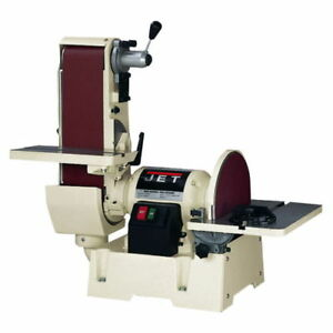 NEW Jet 708599 6 In. x 48 In. Belt  12 In. Disc Sander
