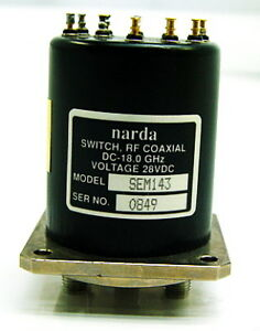 Narda Sem143 Rf Coaxial Switch Dc 18 0ghz