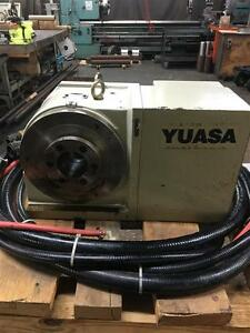 Used Yuasa Dmnc 220 Cnc 4th Axis Rotary Table Indexer Tailstock Works W Beta